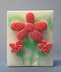 Three Daisies $3.00 (Clelian Heights) Tags: flowers soaps unscented decorativesoaps cleliansoaps 35cleliansoaps
