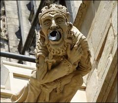 Gloucester Cathedral ... high king gargoyle. (bazzadarambler) Tags: gargoyle gloucester