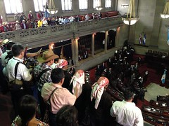 Inside Guatemalan Congress, Indigenous leaders protest State of Siege  May 7, 2013 (xeni) Tags: maya guatemala congress congreso genocide garifuna genocidio stateofsiege estadodesitio xinka