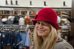 Cecilia Does Cowboy Hats Wrong... (_Codename_) Tags: red hat nashville tennessee felt cecilia