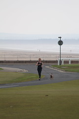 JUST JOGGING (M7CCF) Tags: sea sky grass st canon golf eos scotland sand andrews fife course 650d