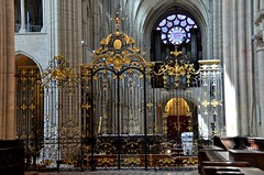 Laon (Aisne) - Cathdrale Notre-Dame - Grille du choeur (Morio60) Tags: notredame cathdrale 02 picardie laon aisne