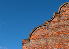 Gable Wall 2 (only lines) Tags: uk house detail brick wall kent charing curved gable