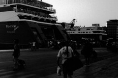 Ferry (boklm) Tags: leica bw film fuji athens greece neopan neopan1600 2010 leicam6 fujineopan1600