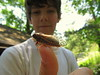 Alec and a Cicada (Amy Loves Yah) Tags: cicada magicicada periodicalcicada