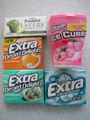 American gum (Cle0patra) Tags: orange gum mint bubblegum chewinggum extra 2012 trident polarice icebreakers mintchocolatechip greenapplegoldenpineapple dessertdelights orangecremepop 1november2012 bubblebreeze
