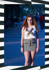 xx (Marina K Caprara) Tags: blue red portrait cute brick philadelphia girl fashion hair cool model nikon xx stripes blues rittenhouse x cobblestone trends trendy philly rittenhousesquare redhair tones cooltones thexx pennsyl nikond3100
