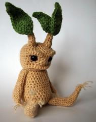 Mandrake by MaffersToys (MaffersToys) Tags: bear cute strange toy weird knitting teddy witch crochet harry potter creepy fantasy demon etsy amigurumi witchcraft pagan mandrake