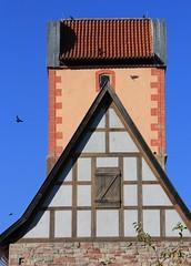 (:Linda:) Tags: bird church germany town basilica kirche thuringia romanesque halftimbered romanisch romanik breitungen