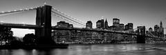 Manhattan Brooklyn Bridge panorama (John Hudson Photo) Tags: city nyc bw skyline brooklyn manhattan canon20d brooklynbridge manhattanskyline newyorkcityskyline newyorkpanorama citypanorama bridgepanorama nycpano