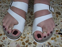 DSCF2380 (sandalman444) Tags: color male feet long sandals nail pedicure care toenails pedicured toerings mensfeet