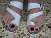 DSCF2380 (sandalman444) Tags: color male feet long sandals nail pedicure care toenails pedicured toerings mensfeet