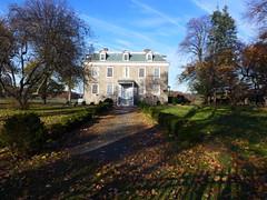 Van Cortlandt House Museum (mtchlra) Tags: nyc autumn house newyork leaves lumix bronx panasonic mansion lx7 vancortlandtpark 2013
