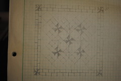 Split personalities original sketch (Crooked Banana) Tags: quilt low quilting volume pinwheels finishes