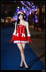 nEO_IMG__MG_6361 (c0466art) Tags: christmas school light red portrait white girl beautiful female night canon photo asia university pretty skin gorgeous skirt short attractive 5d lamps cloth charming pure c0466art