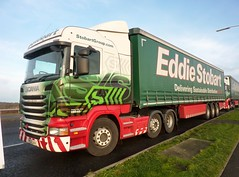 H6545 - PE12 LKA (Cammies Transport Photography) Tags: anna lauren truck way lorry jade eddie scania dunfermline esl sanderling stobart r440
