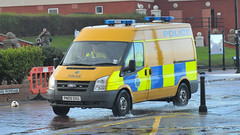 Merseyside Police patrol as High tides hit River Mersey waterfront (sab89) Tags: ford police transit van unit merseyside oxu pn09 pn09oxu