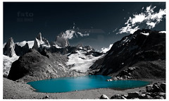 Mt Fitz Roy (foto Neil Hinde) Tags: travel patagonia lake snow mountains travelling ice southamerica water argentina trekking trek glacier elchalten glaciallake turquoisewater mountfitzroy