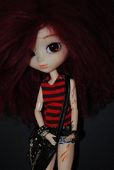 . (Brindfoliee) Tags: red rock outfit doll wig mohair pullip rida animaleyes obitsu fullcusto azazelle brindfoliee