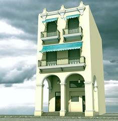 Havana (stancula) Tags: plaza house building art architecture digital design havana vieja scene grafic