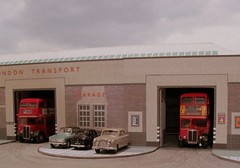Hornchurch bus garage diorama (kingsway john) Tags: hornchurch london transport bus garage diorama 176 scale model londontransportmodel oo gauge miniature