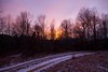 Country Roads Hurt My Toes (Universal Stopping Point) Tags: trees sunset snow home silhouette colorful purple snowy driveway dirtroad appalachia johndenver easternkentucky
