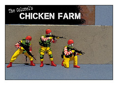 Raid on the Colonel's chicken farm (tim constable) Tags: ronald army corporate control dominate military authority domination fastfood police mcdonalds business takeout illegal argument soldiers government ronnie funnypics militia trade lawandorder department mcdonald bigbusiness takeover coup assert pmc turfwar dispute quarrel martiallaw ministryoffood fastfoodturfwar vision:text=0784 vision:outdoor=0812