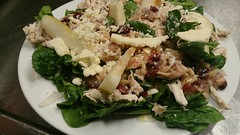 spinich and pear salad