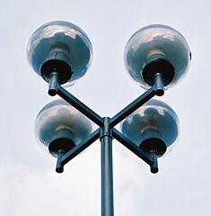 Street Lamp by Contax T3 (Song-to-the-Siren) Tags: film 35mm march streetlamp streetphotography 35mmfilm analogue streetfurniture filmcamera guildford contaxt3 2014 ektar kodakektar100