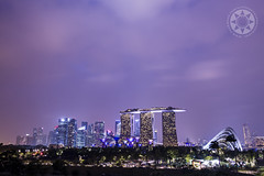 Marina Barrage (Alphone Tea) Tags: life city travel light sky night garden print landscape amazing singapore colorful asia cityscape purple great wideangle 6d 1635 2013 marinabarrage gbtb ef1635mmf28liiusm
