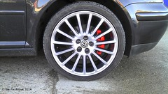 "VW Golf alloy wheel in Shadow Chrome with Red Callipers by We Fix Alloys • <a style=""font-size:0.8em;"" href=""http://www.flickr.com/photos/75836697@N06/13785257504/"" target=""_blank"">View on Flickr</a>"