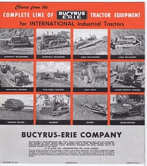 Bucyrus Erie Dozer Shovel c1950 (Runabout63) Tags: machinery erie loader brochure bulldozer earthmoving bucyrus