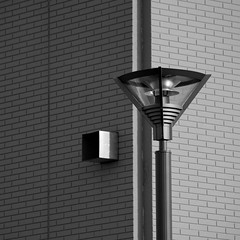 U.F.O shaped street lamp B&W ( wasteland) (sandroraffini) Tags: street light abstract black lines architecture canon square design industrial cityscape technology shadows steel details curves gothic surreal textures hardcore squareformat bologna reality suburbs dettagli walls minimalism surfaces grafica wasteland fragments bitchesbrew yabbadabbadoo linescurves blackwhitephotos dizajnersi