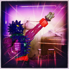 Spikor (Jason 87030) Tags: camera color colour art metal square toy weird pain rust glow nipples hand arty purple shot artistic boobs action farm rusty freaky odd nails weapon fist figure imagination spike silos fisting motu mastersoftheuniverse spikor