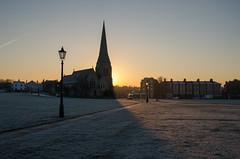 Frosty Blackheath (Spannarama) Tags: uk winter shadow sunlight cold london church grass sunshine sunrise landscape frost blackheath frosty spire heath allsaints