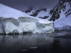 Blue Hour Snow Bank, LeMaire Channel, Antarctica (professor126) Tags: expedition landscape antarctica bluehour silversea phaseone lemairechannel iq180 mamiya75150