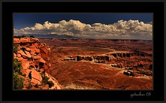 The Glory of Canyonlands (the Gallopping Geezer '4.5' million + views....) Tags: park red brown nature canon landscape utah nationalpark scenery view scenic roadtrip canyonlands moab redrock 2008 geezer rockformations corel
