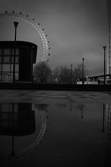 (ddstreetphotos) Tags: blackandwhite reflection london reflections blackwhite nikon londoneye