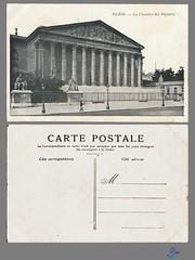 PARIS - La Chambre des Deputes (bDom) Tags: paris 1900 oldpostcard cartepostale bdom