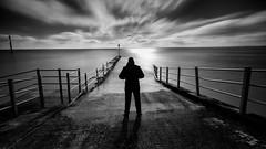 Quiet Contemplation (LeePellingPhotography.co.uk) Tags: seascape art dark mono kent long exposure solitude moody quiet fine calm le contemplation ramsgate