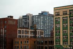 (Radu Tihon) Tags: street city windows chicago colors architecture buildings town geometry forms blocks