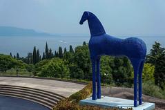 Vittoriale degli Italiani, Gardone Riviera (GardenTraveller) Tags: park blue italy sculpture horse statue gardens architecture riviera gabriele giancarlo degli italiani mimmo paladino dannunzio maroni gardone vittoriale