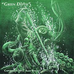 Green Depth (blackboxcomix52) Tags: deepseadiver soloartist pdxart colorclayboard