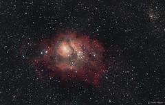 The Lagoon Nebula (M8) (Martin_Heigan) Tags: africa sky canon stars southafrica space science telescope nebula astrophotography m8 physics astronomy universe cosmos reflector celestron hydrogen astrophysics gso southernhemisphere dso ngc6544 widefield deepsky newtonian nebulosity southernskies ngc6523 lagoonnebula avx amateurastronomy astrograph deepskyobject ngc6530 astrometrydotnet:status=solved messier8 starcolors amateurastronomer ngc6526 starsense starcolours 60da ngc6533 ic1271 ic4678 mhastrophoto 1may2016 astrometrydotnet:id=nova1559695