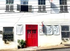 red silence (carsteanca) Tags: city red brazil rio riodejaneiro arts citylife santateresa