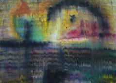 Scorpion Hausse (calonyr11) Tags: abstract art illustration painting landscape drawing pastel surrealism fineart surreal oilpastel carolyngeason calonyr11 carolynanngeason surrealscape carolynanncreative