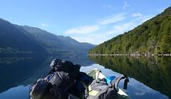 Adventure time (Camila Mateluna) Tags: chile lake green forest reflections lago mirror boat outdoor adventure espejo aventura cochamo