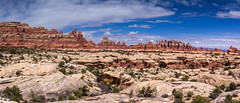 Pano of The Needles, Canyonlands N.P., Utah (Apr. 2016) (Thomas Cluderay) Tags: camping nature landscape outside outdoors photography utah desert nps hiking canyon backpacking canyonlands backcountry canyons tcluderayphoto