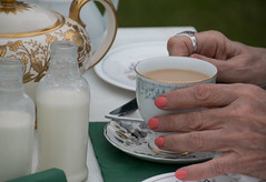 The Human Touch (Deborah S-C (InTheFairyGarden)) Tags: coffee milk tea cumbria afternoontea cartmel month5 chinacup chinateapot holker socivilised stilllifeproject mumshands thehumantouch holkerhallgardenfestival june2016 bestilloneyearwiser kimklassenbestill52oneyearwisermonth5