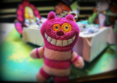 Friday Smiles Woo hoo YAY! (Lawdeda ) Tags: robert up by cat fun toy miniature cheshire faces alice lewis pop plushie friday wonderland adaptation carrolls sabuda picmonkey